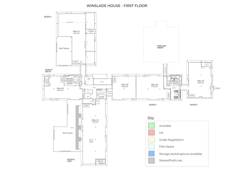 Winslade House – First Floor